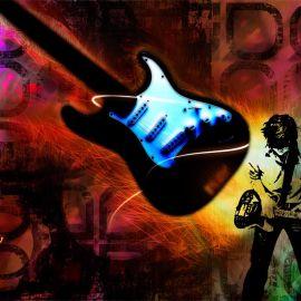 Papel de parede 'Guitarra – Rock'