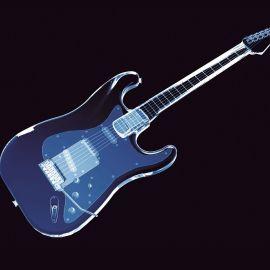 Papel de parede 'Guitarra 3d Neon'