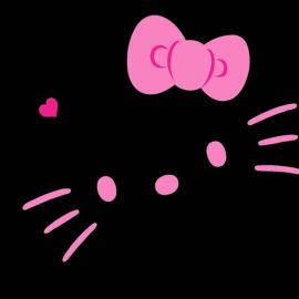 Papel de parede 'Hello Kitty – No Escuro'