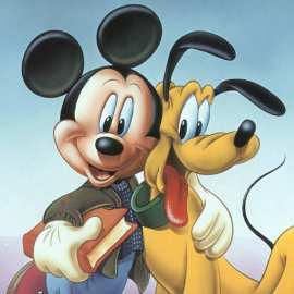 Papel de parede 'Mickey e Pluto'
