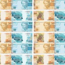 Papel de parede 'Novos 50 e 100 reais'