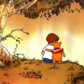 Papel de parede 'Pooh – Abraço Amigo'