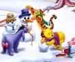 Papel de Parede Pooh – Brincando na Neve