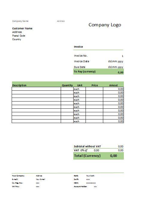 Modelo de factura proforma - formatos de minutas en excel