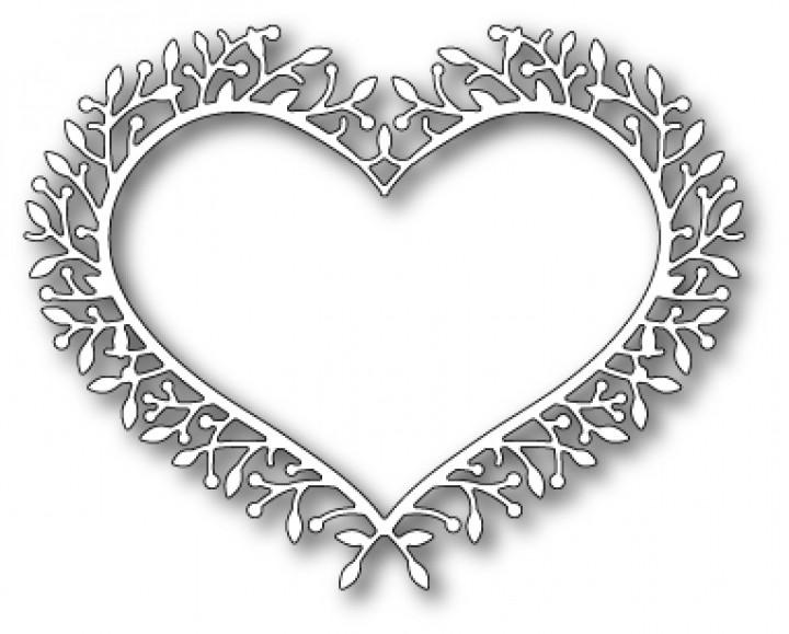 Comfortable Poppystamps Stanzform Herz Rahmen Woodland Heart Frame ...