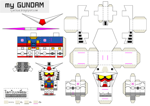 Blog_Paper_Toy_papertoy_Gundam_RX-78-2_template Hinu0027s - birthday card layout