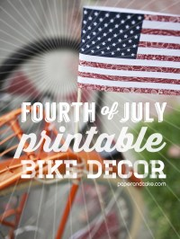 4th of July Bike Decorations: Friday Freebie - Paper and ...