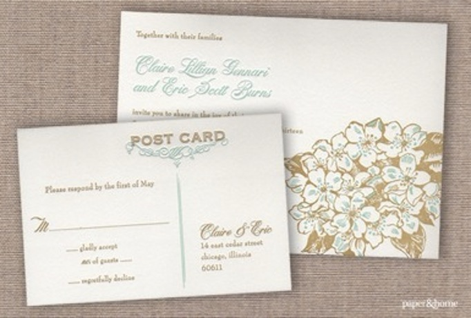 Cost Cutting Wedding Tip Send a Postcard - Paper and Home