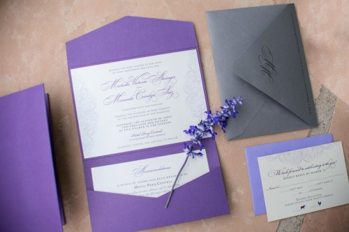 Medium Of Lace Wedding Invitations