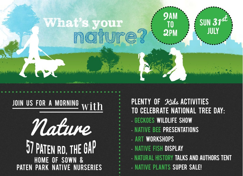 Enviro fun day this Sunday at The Gap – drop by and say hello!