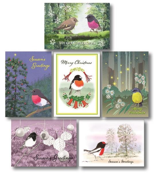 New! Australian Robin Christmas cards