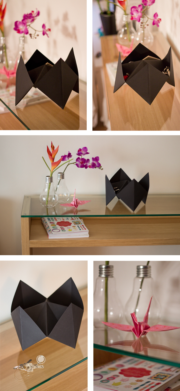 vide poche origami paperboat. Black Bedroom Furniture Sets. Home Design Ideas