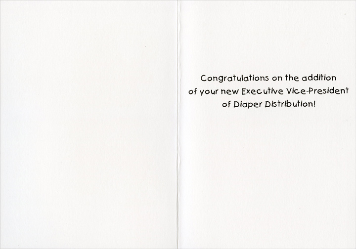 Baby on Board Funny / Humorous New Baby Congratulations Card by