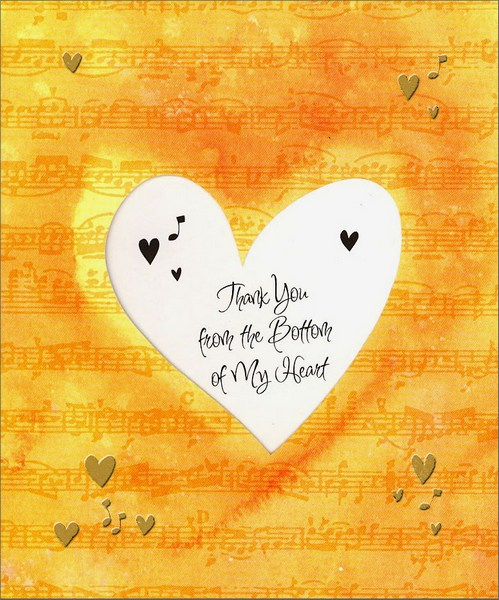 Bottom of My Heart Thank You Card by Freedom Greetings
