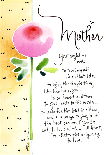 You Taught Me Well - Recycled Paper Greetings Mother\u0027s Day Card - mother s day cards