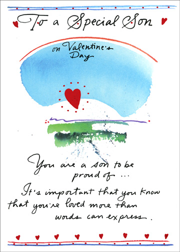 Son To Be Proud Of Valentine\u0027s Day Card by Recycled Paper Greetings - valentines cards words