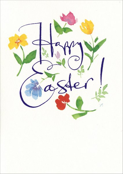 Flower Letter Easter Card by Recycled Paper Greetings