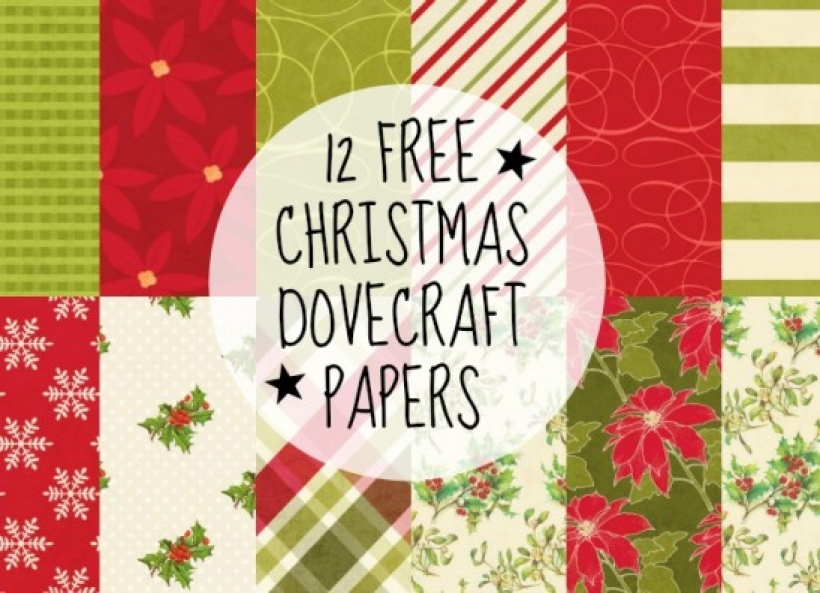 FREE Christmas Dovecraft Papers paper craft download