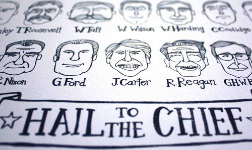 1Canoe2 Hail to the Chief Presidents Letterpress
