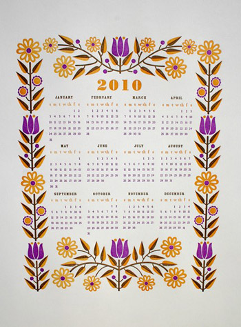 Dutch Door 2010 Calendar