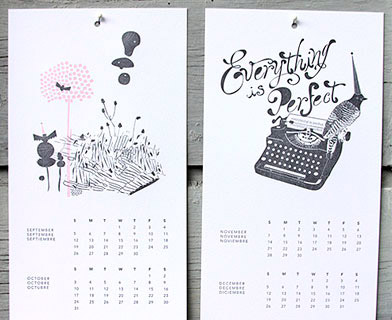 INK+WIT Letterpress 2010 Calendar