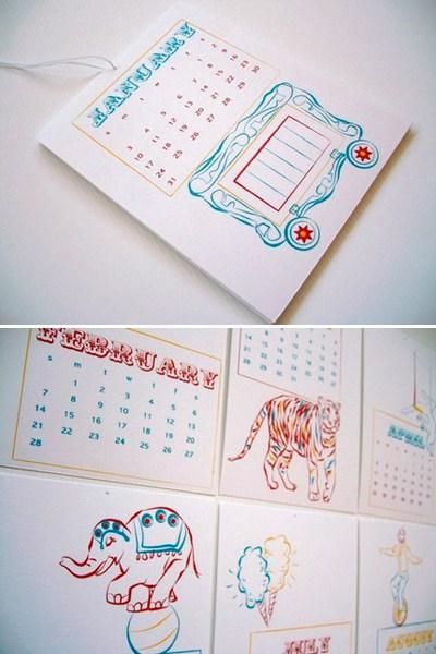 Colette Paperie Letterpress Calendar