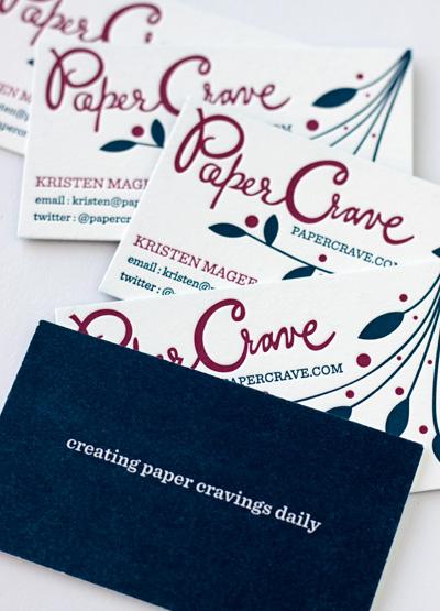 Paper Crave Letterpress Business Cards