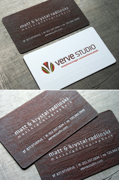 Verve Studio Letterpress Business Cards