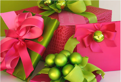 Carolyn Roehm Bright Christmas Gift Wrap