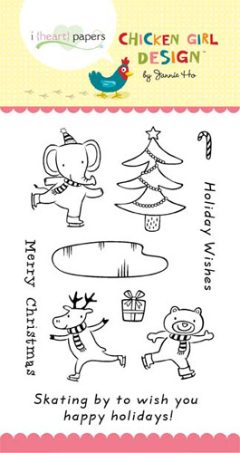 Chicken Girl Design Stamps