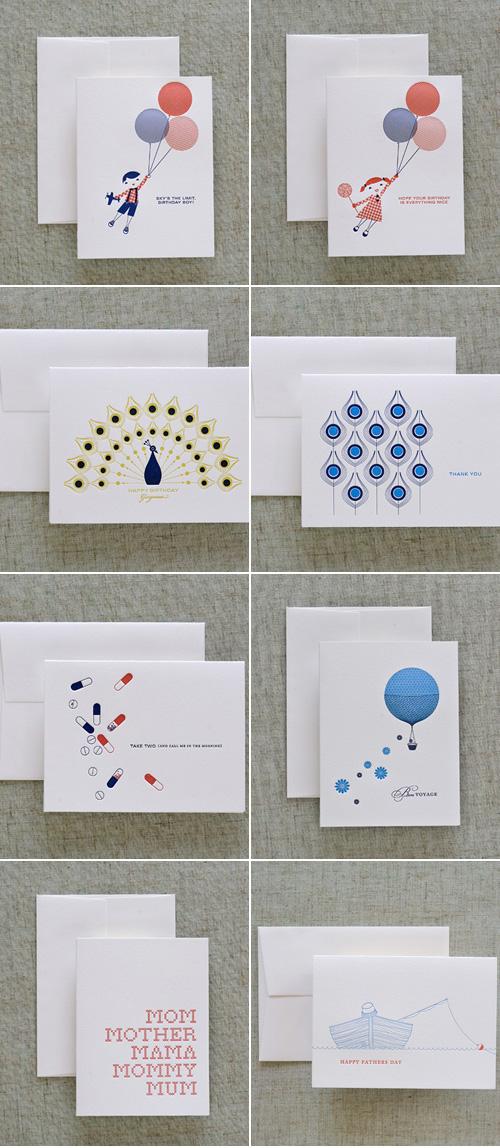 Dee & Lala Letterpress Cards