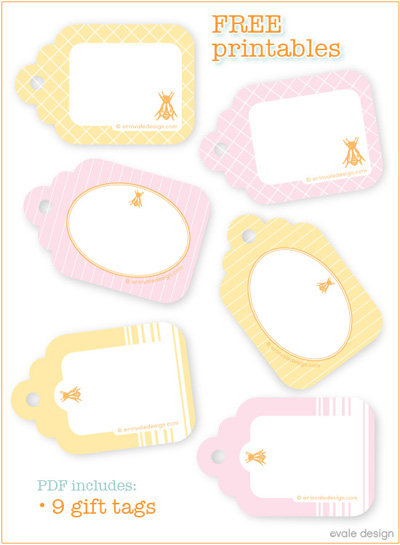 Vale Design Printable Gift Tags