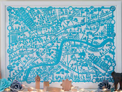 Famille Summerbelle Paper Cut Map