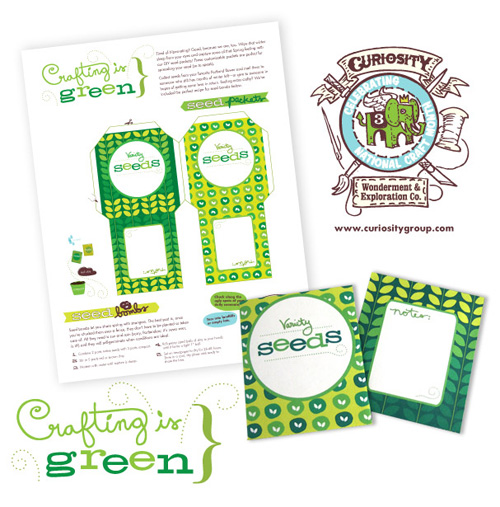 Curiosity Group Free Printable Seed Packets