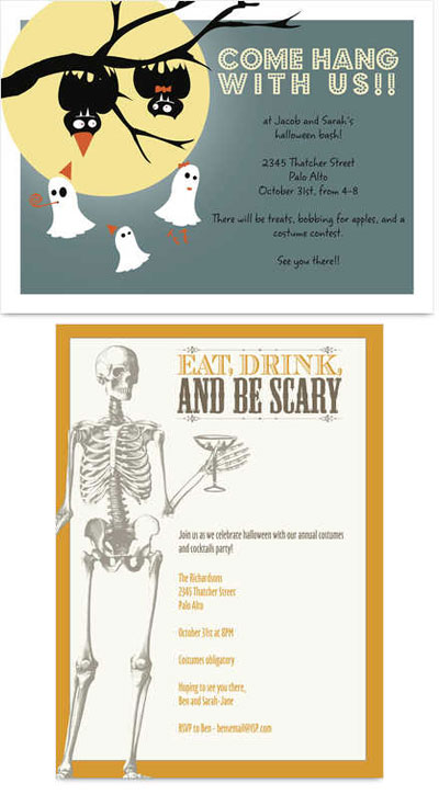 Cardstore Halloween Invitations