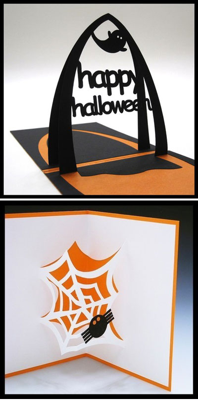Paper Cut Halloween Cards