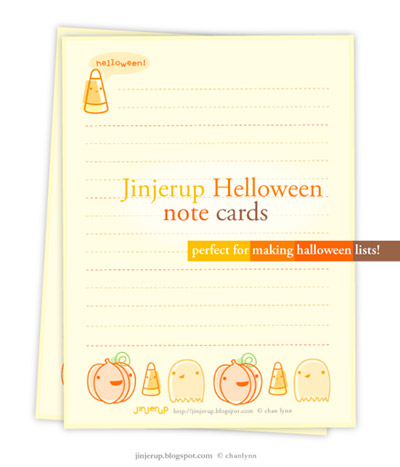 Jinjerup Helloween Note Cards