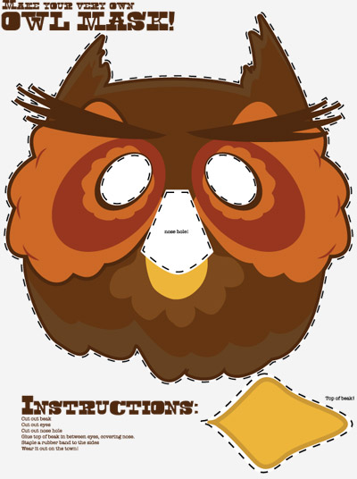 Printable Owl Masks