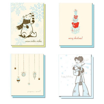 Hello Lucky Letterpress Holiday Cards