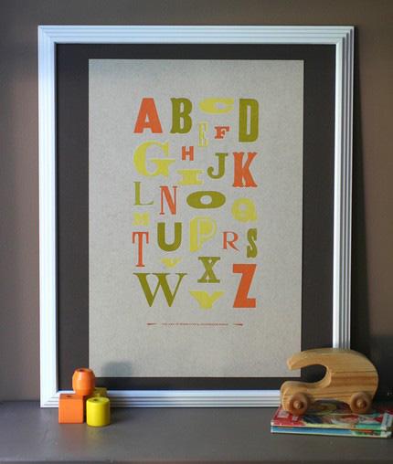 Starshaped Press Wood Type Poster