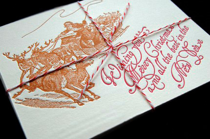 Kirtland House Letterpress Christmas Cards