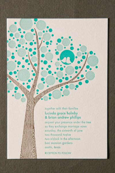Lucinda Letterpress Invitations