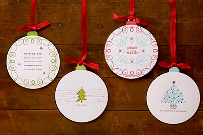 Louella Press Classic Letterpress Ornament Cards