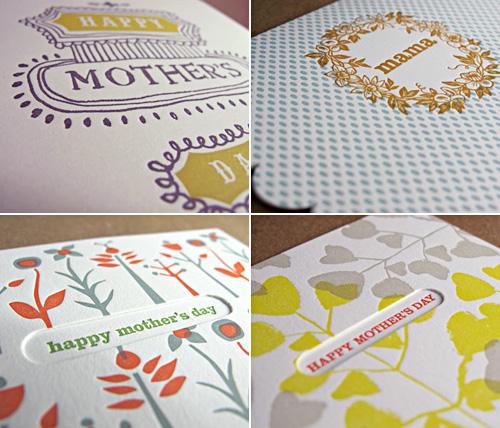 Egg Press Letterpress Mother's Day Card