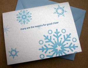 Paper Stories Letterpress Christmas Cards