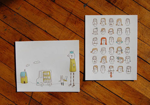 Pistachio Press and Mummysam Letterpress Prints