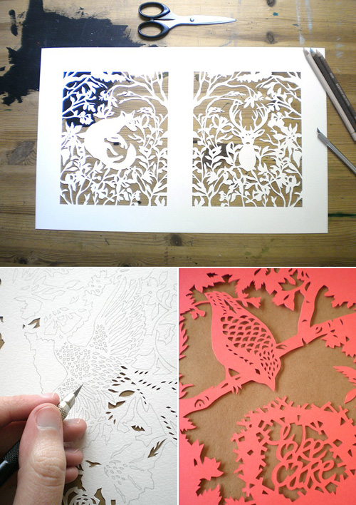 The Time is Now Paper Cut Art
