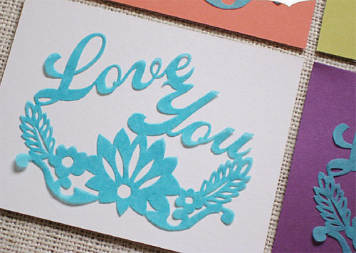 Papel Picado Valentine's Day Cards
