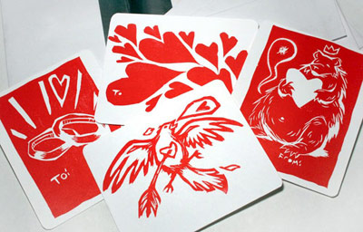 Cricket Press Valentine Cards