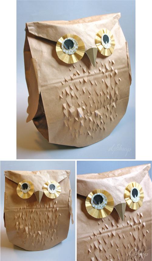 D. Sharp DIY Owl Paper Packaging